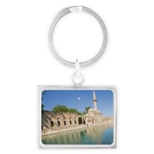 People watching the holy carp,  Landscape Keychain