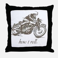 cafe how i roll Throw Pillow