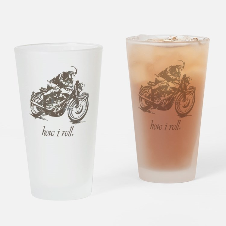 cafe how i roll Drinking Glass