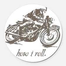 cafe how i roll Round Car Magnet