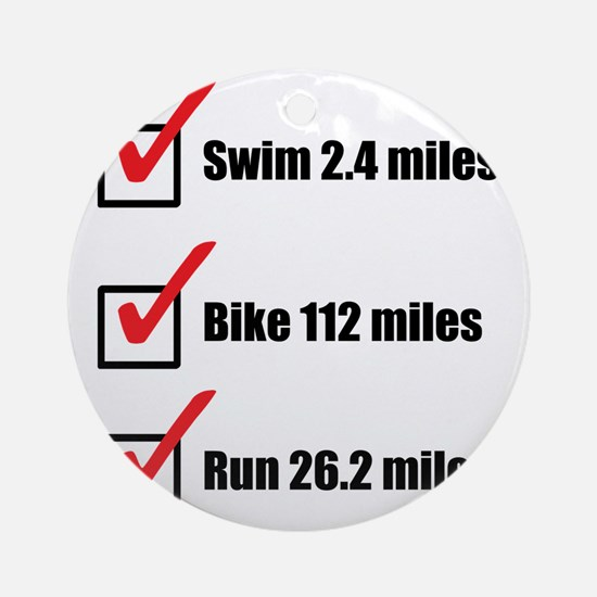 Triathlon-Long-Course Round Ornament