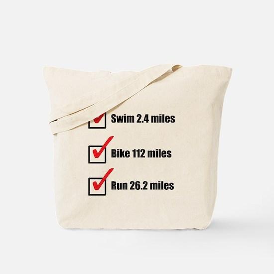 Triathlon-Long-Course Tote Bag
