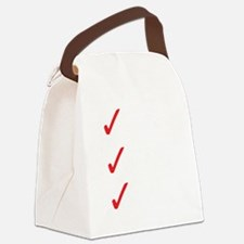Triathlon-Short-Course-white Canvas Lunch Bag