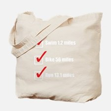 Triathlon-Short-Course-white Tote Bag