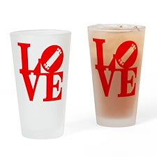 love_longboard_rojo Drinking Glass