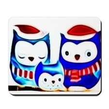 blurred winter owls Mousepad
