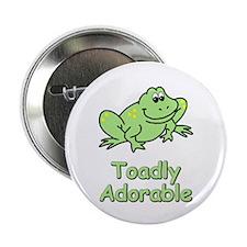 Toadly Adorable Button
