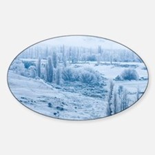 Farmland and Hoar Frost, Fruitlands Decal