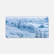 Farmland and Hoar Frost, Fr Aluminum License Plate