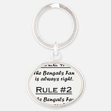 Rule Bengals Fan Oval Keychain