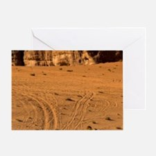Dromedaries accompanied by a nomad d Greeting Card