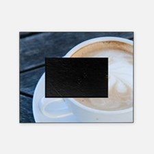 Latte Coffee with Fern Frond Pattern Picture Frame