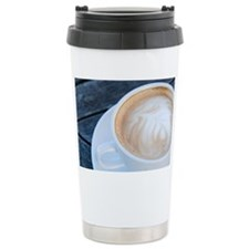Latte Coffee with Fern Frond Pa Travel Mug