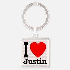 iheart_Justin Square Keychain