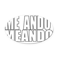 meando Oval Car Magnet