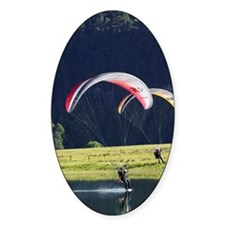 Paramotor skimming water, Diamond L Decal