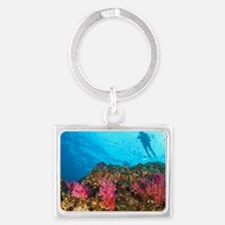 Scuba diving at Richelieu Rock, Landscape Keychain