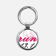 run13_pink2_sticker Round Keychain