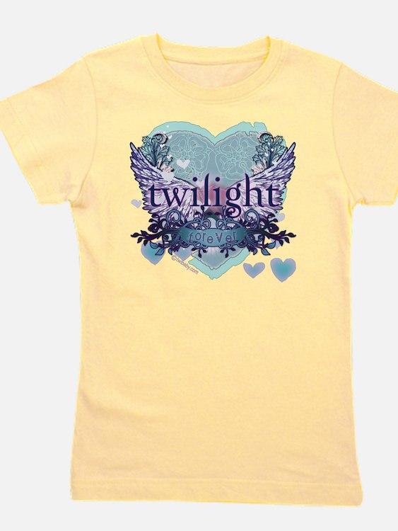 twilight forever aqua heart copy Girl's Tee