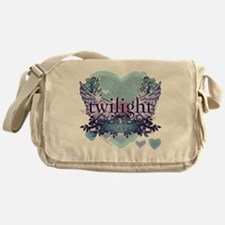 twilight forever aqua heart copy Messenger Bag