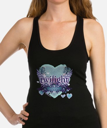 twilight forever aqua heart cop Racerback Tank Top