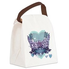 twilight forever aqua heart copy Canvas Lunch Bag