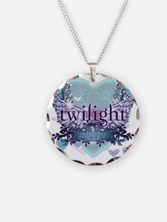 twilight forever aqua heart  Necklace
