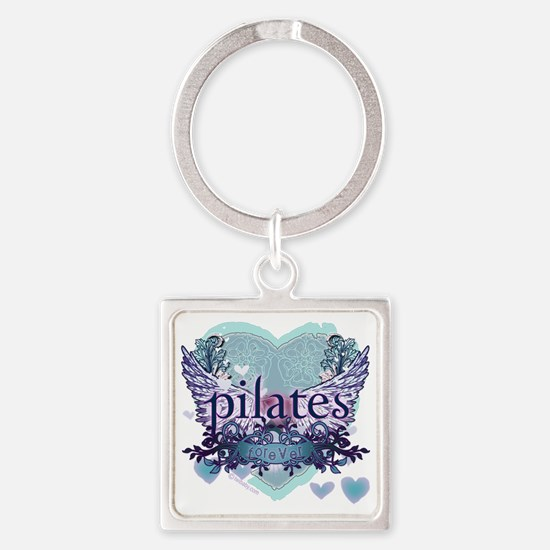 twilight forever aqua heart copy Square Keychain