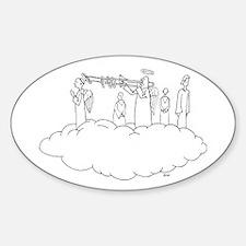 Trombone Heaven Oval Decal