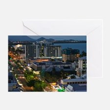 Cairns. Evening View of Central Cair Greeting Card