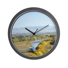 Orchard and Autumn Colour by Tukituki R Wall Clock