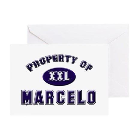 Property of marcelo Greeting Cards (Pk of 10)