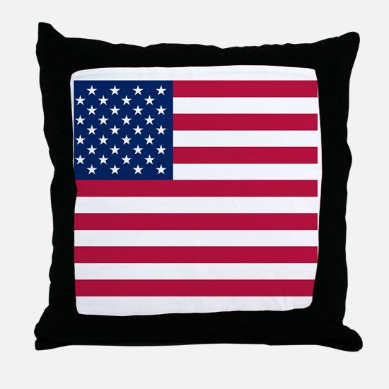 US Flag Btn 1 Throw Pillow