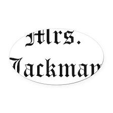 mrs jackman Oval Car Magnet