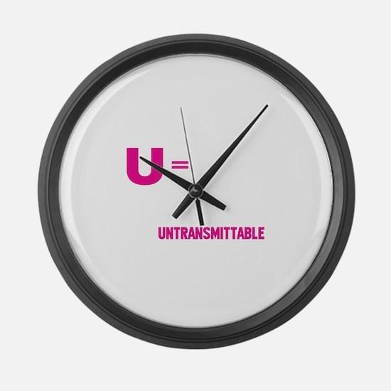 U=U Undetectable = Untransmittable Large Wall Cloc
