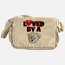 Loved by a Schnoodle Messenger Bag