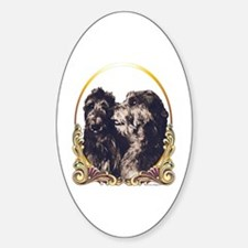 Scottish Deerhound Christmas Oval Decal