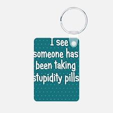 stupiditypills_iphone11 Keychains
