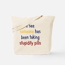 stupiditypills_rnd2 Tote Bag