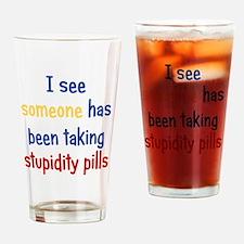 stupiditypills_ipad2 Drinking Glass