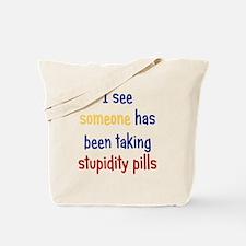 stupiditypills_ipad2 Tote Bag