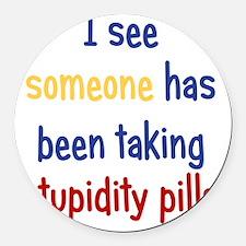 stupiditypills_ipad2 Round Car Magnet