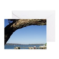 Wharf, Russell, Bay of Islands, Nort Greeting Card
