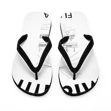 Seaquarium_10x10_apparel_BlackOutline Flip Flops