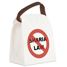NO SHARIA LAW Canvas Lunch Bag