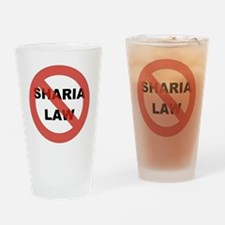NO SHARIA LAW Drinking Glass