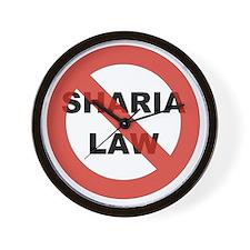 NO SHARIA LAW Wall Clock