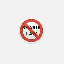 NO SHARIA LAW Mini Button