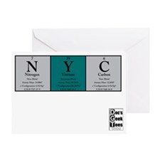 NYC Color BG + logo Greeting Card