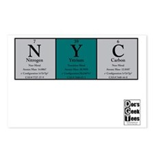 NYC Color BG + logo Postcards (Package of 8)